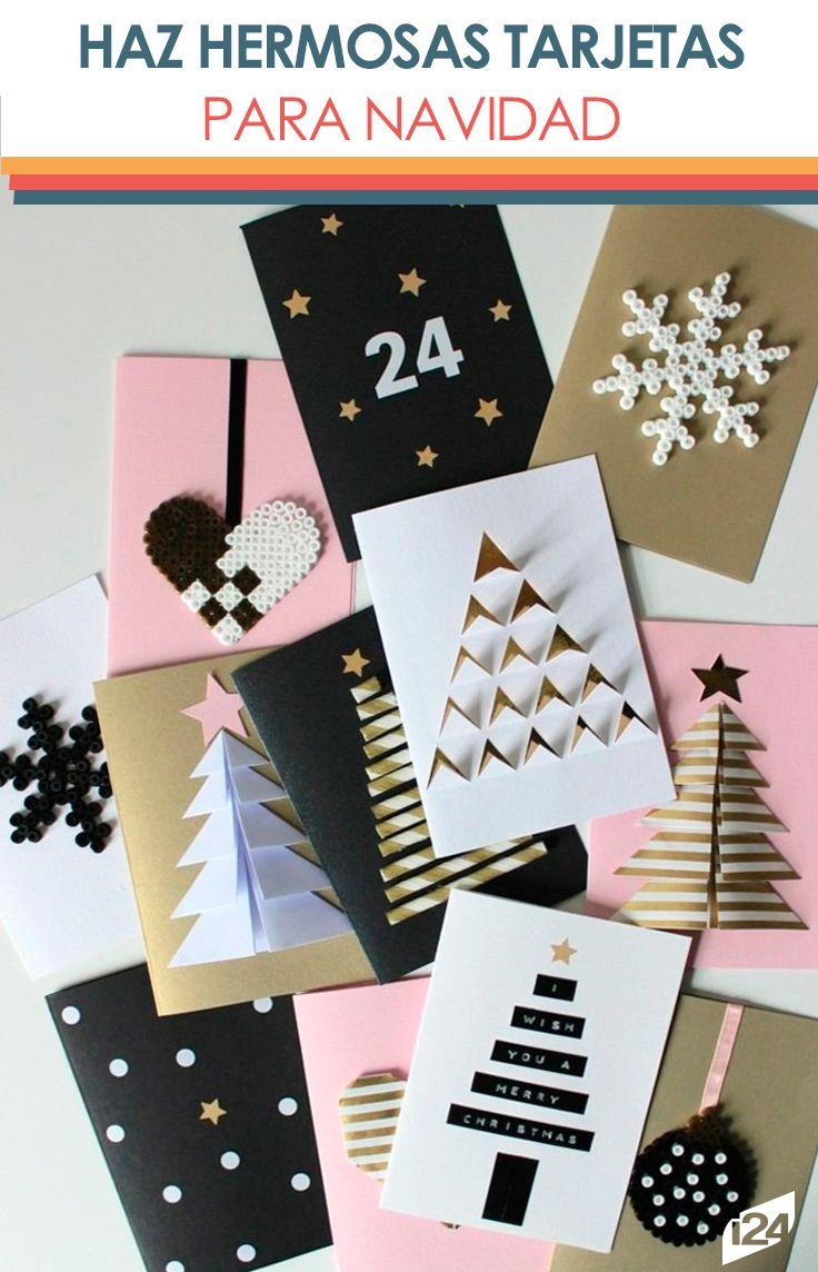 Con estas ideas podrás sorprender a tus seres queridos en estas fiestas #navidad #christmas #tarjetas #ideas #diy