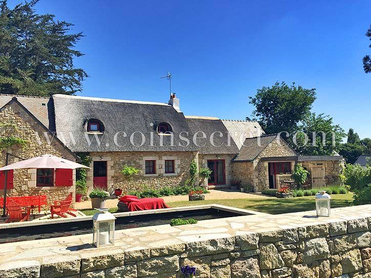Location d'une maison de vacances avec piscine chauffée à Kersauz, dans le Golfe du Morbihan