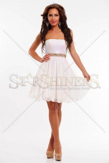 Rochie Sherri Hill 8520 White