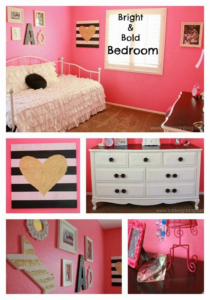 bright and bold girl s bedroom paint colors pink girl 12833 | caa31373a24f32fb588e77147b334b23