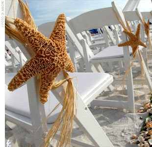 Starfish Aisle Seat Decorations For A Beach Wedding