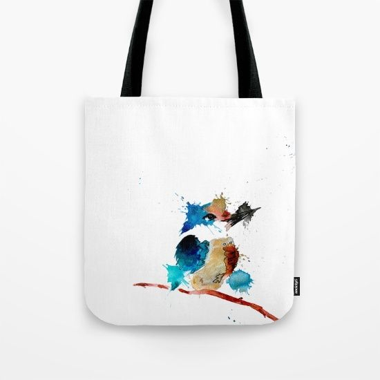 Kingfisher Tote Bag by Art By Chrissy Taylor - $22.00