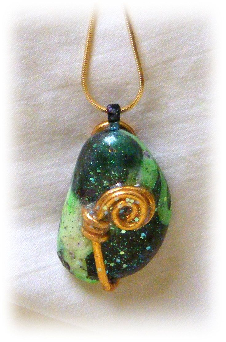 Beautiful Hand Painted Rock Pendant And Necklace #75 by TheCraftBlossom on Etsy