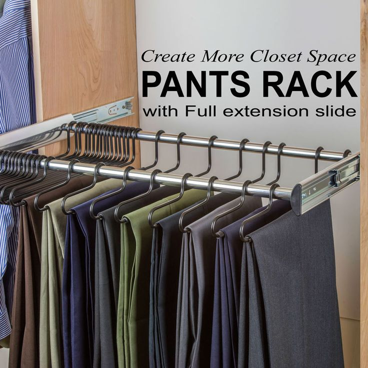 The Rack Mounts To The Side Of The Closet And Pulls Out On Full Extension  Slides. The Hangers ...