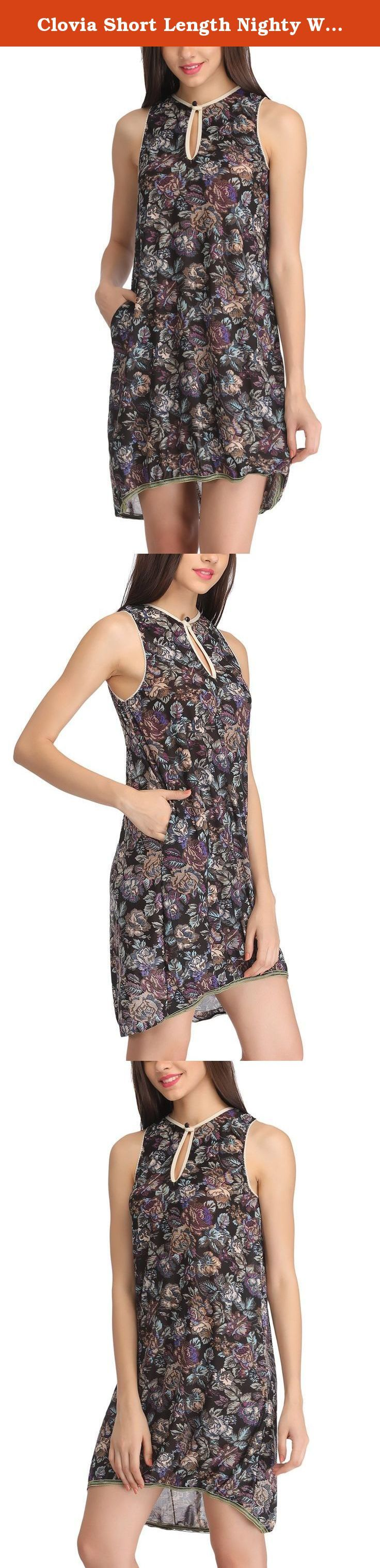 Clovia Short Length Nighty With Designer Lace Trim - Black. Short length printed babydoll dress. Crafted with soft stretchable printed polyamide fabric. Dons designer elastic lace trim at the hem. Further accentuated with key hole neck design with button in front. A cute addition for your nightwear wardrobe or collection of sundresses. Note:- Returns are not acceptable for this Product.