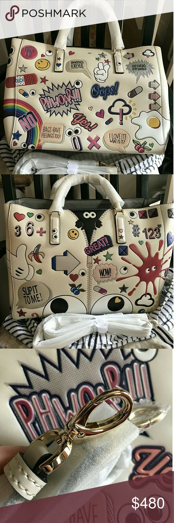 Sticker Anya hindmarch handbag New INSPIRED All leather! Solid hardware top quality Price firm once purchased ship next day  Great quality leather and gold hardwear With dust bag only  Thank you and enjoy! Anya Hindmarch Bags Totes