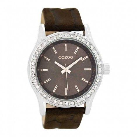 OOZOO Timepieces Bruin horloge C8008 (43 mm) - Horloges
