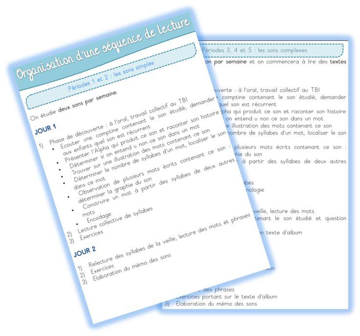 Organisation d'une séquence de lecture CP