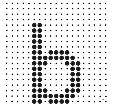 Kralenplank - letter b