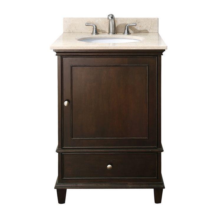 Photo Gallery On Website Avanity Windsor Walnut Undermount Single Sink Poplar Bathroom Vanity with Natural Marble Top at Lowe us The Windsor in vanity in walnut is a beautiful