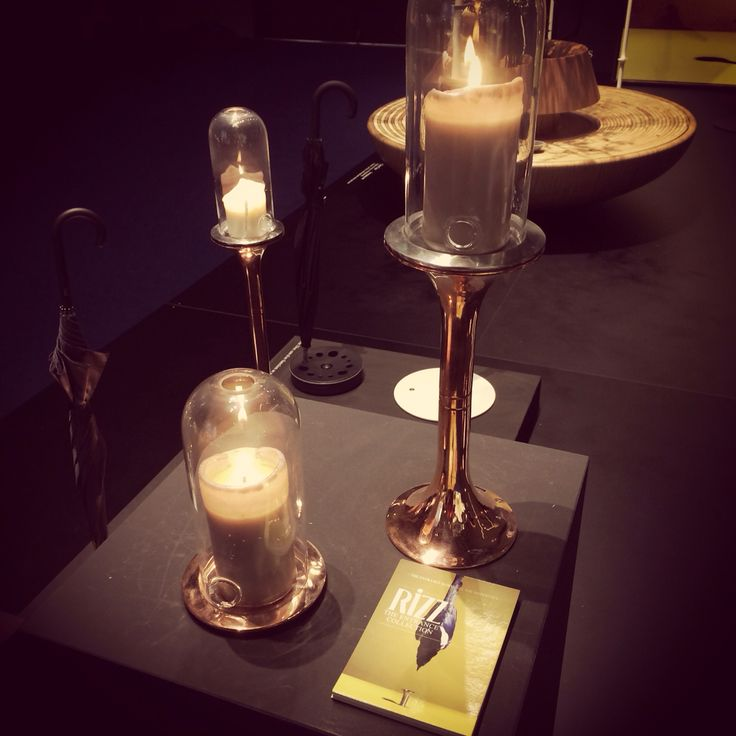 NEW in our collection: candle stands & holders also available in #copper! #RiZZblog design by #teunfleskens #entrance @ #interieur14