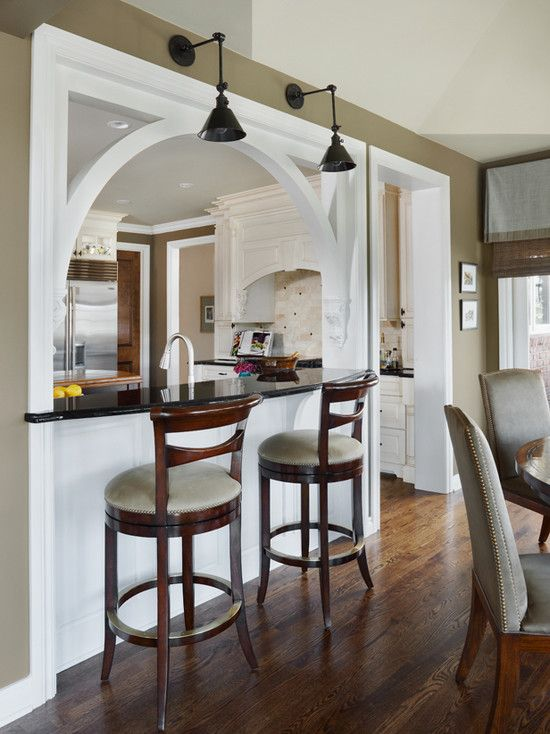 Pass through with sconce/pendant lighting from Houzz