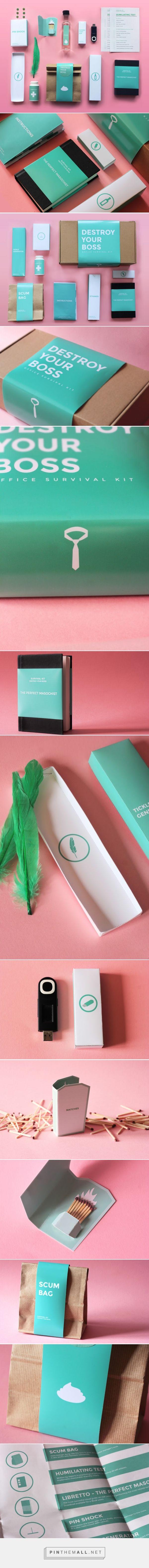 Destroy Your Boss kit concept designed by DesignerAtDeep - http://www.packagingoftheworld.com/2015/09/destroy-your-boss-office-survival-kit.html