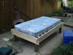 Wooden Futon Bed Frame Plans Diy Blueprints Our Sy Supports Its