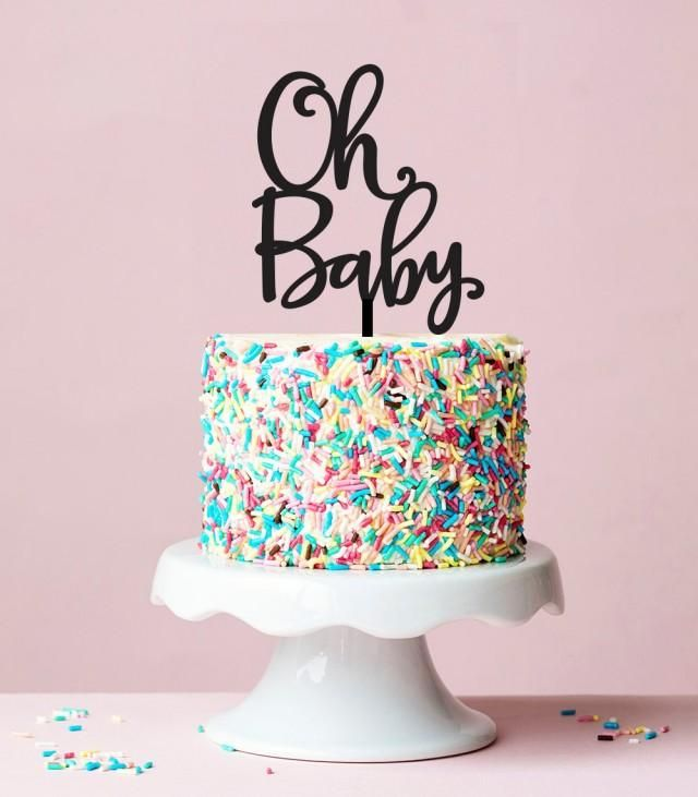 Oh Baby Cake Topper, Baby Shower Cake Topper, Baby Shower Decorations, Oh Baby Sign, Acrylic Cake topper, Gender Neutral Shower Ideas 059