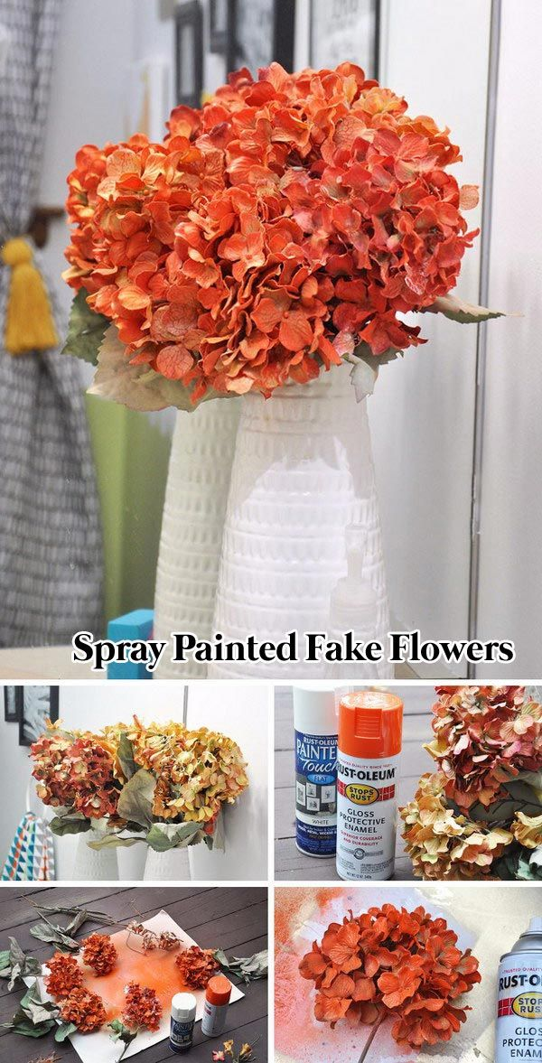 24 spray paint ideas to make old stuff look more expensive share paint fake flowers and make them be the color that you want with spray paint mightylinksfo