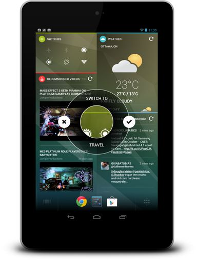 Chameleon   Your new Android Home Screen. Always Relevant. Immediately Valuable. - Teknision Inc.- I LOVE LOVE LOVE this dashboard