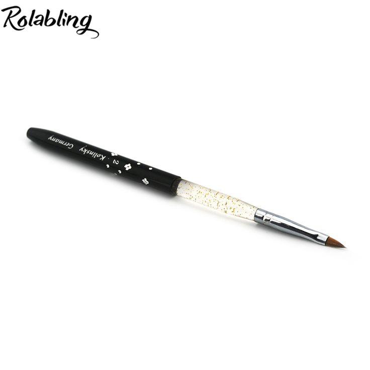 Rolabling 2# black Professional Kolinsky Sable Brush Sable Acrylic Nail Art Brush Pen Nail Brushes nail art pen brush