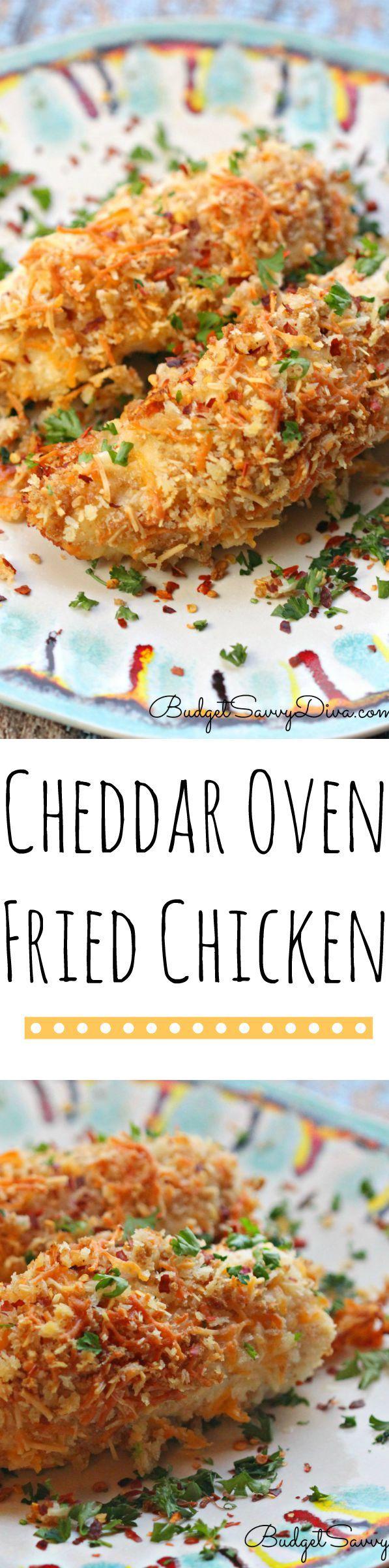 Cheddar Oven Fried Chicken Recipe