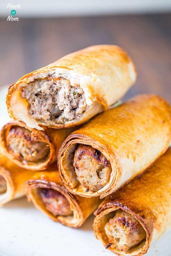 Syn Free Sausage Rolls | Slimming World | Slimming World- use GF wraps