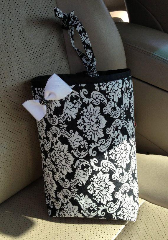 Car Trash Bag BLACK   WHITE DAMASK Teen  Girl  Women  Gifts Car Litter. 43 best Etsy Unique Gifts images on Pinterest   Unique gifts
