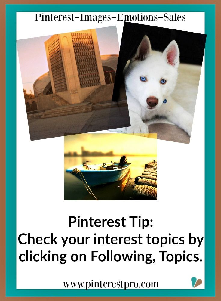 Checking Your Pinterest Interest Insures You See The Right Types