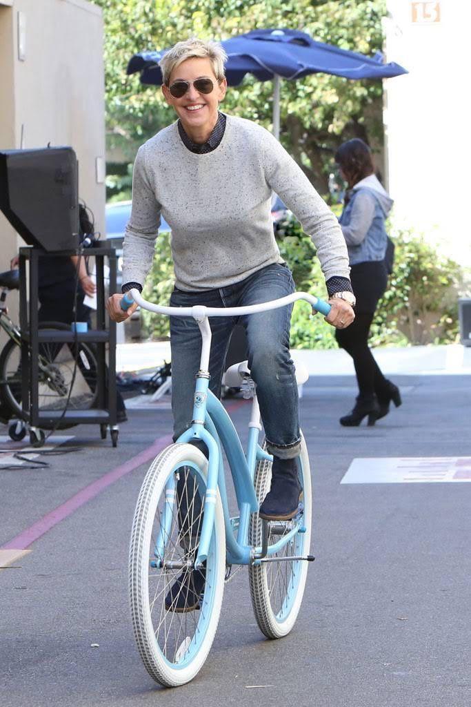 Image result for ellen on a bike
