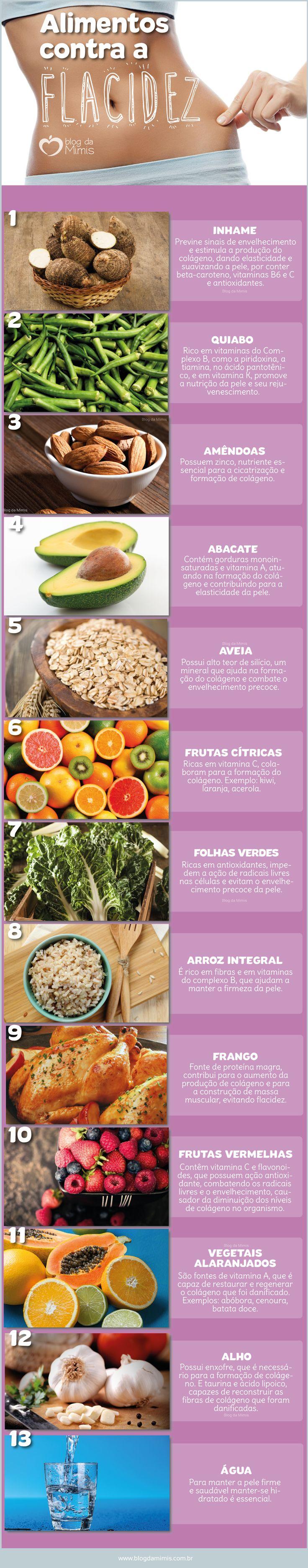 Alimentos contra a flacidez - Blog da Mimis #flacidez #alimentos #alimentação #dieta #saudável #beleza #colágeno #pele #corpo #body #celulite