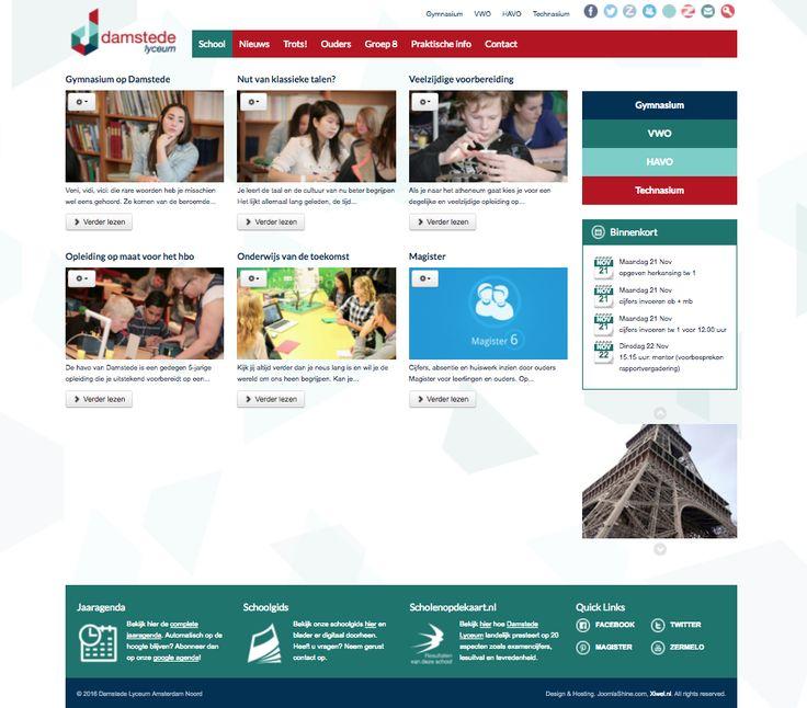 Website http://www.damstedelyceum.nl | Middelbare school Amsterdam Noord