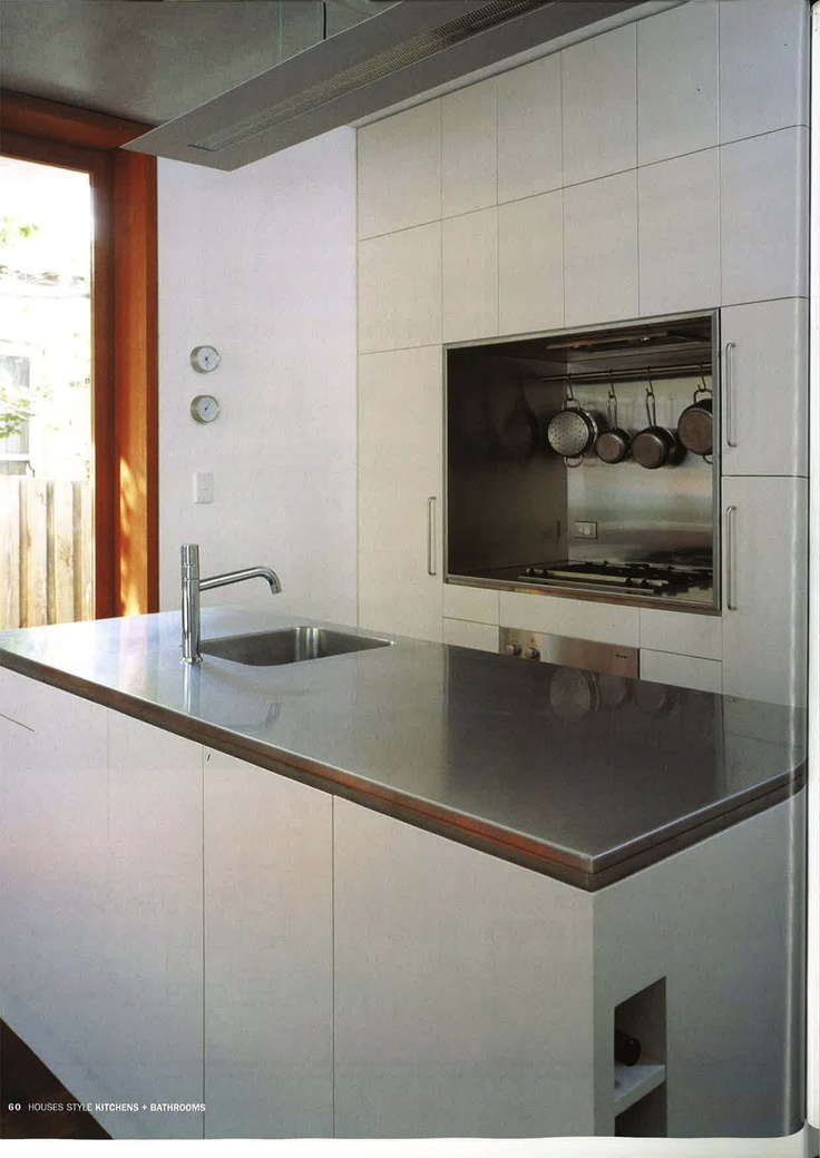 Stainless Steel benchtop and cooking recess