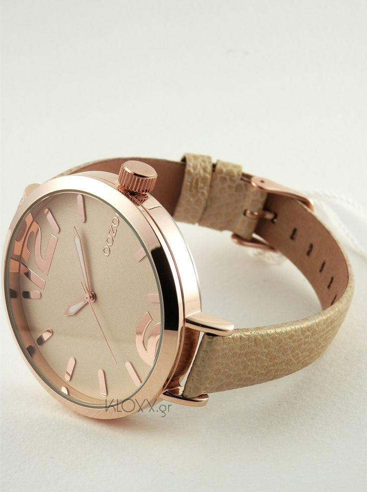 OOZOO timepieces beige leather strap C6550  http://kloxx.gr/brands/brands-oozoo/oozoo-timepieces-beige-leather-strap-c6550