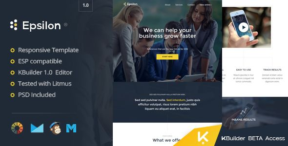 Epsilon - Modern Email Template + Kbuilder 1.0 - Email Templates Marketing