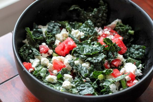 Salade avec melon d'eau mariné