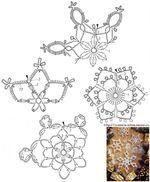 Handmade-kursy ,wzory ,tutoriale: Szydełkowe gwiazdki i dzwonki na chionkę Crochet Christmas decorations
