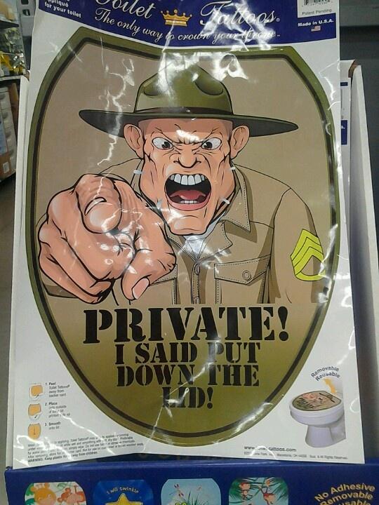 Toilet seat cover at Walmart!! Haha!!