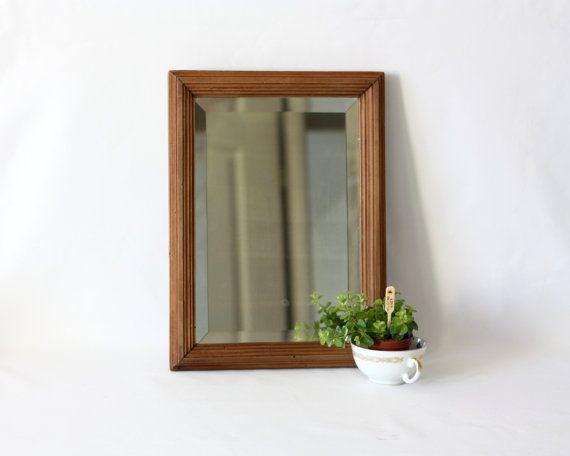 Miroir ancien en bois Français - miroir mural - miroir à poser - Fabriqué en France - miroir vintage - miroir coiffeuse - MariusEtJeannette