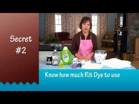 Secrets to Successful Rit Dyeing presented by the Rit Studio - YouTube
