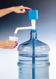 Great camping idea! Pump for water jugs.  No more spilling your water trying to pour it into cups!