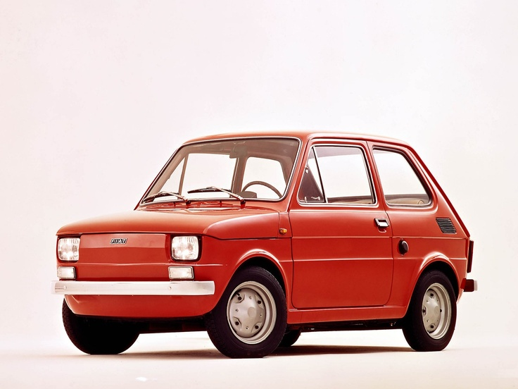 Fiat 126 - My first car was this one, exactly the same colour. Great car. It did wonders, lol