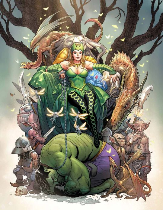 Enchantress - The Totally Awesome Hulk #5 - Cover by Frank Cho