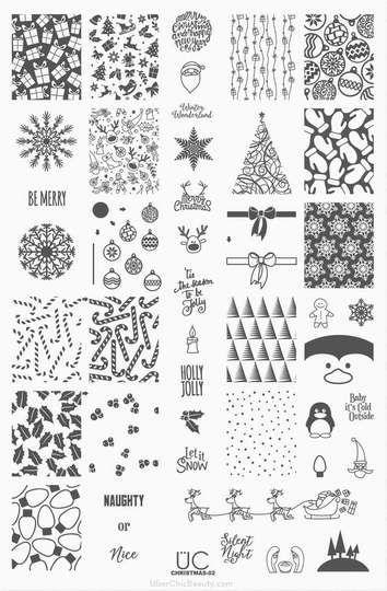 Uber Chic nail stamping plate Christmas 02.