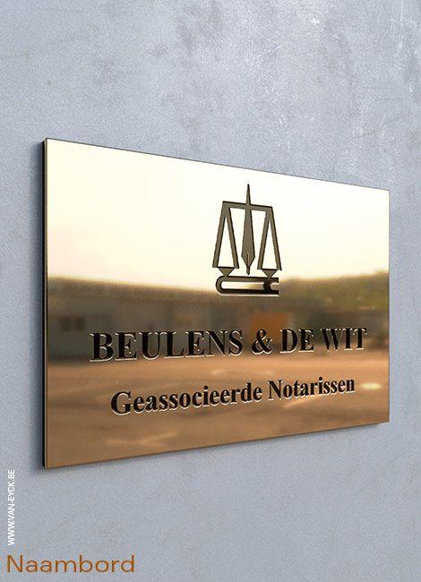 Naamborden en huisnummers - Atelier Van Eyck, Leuven