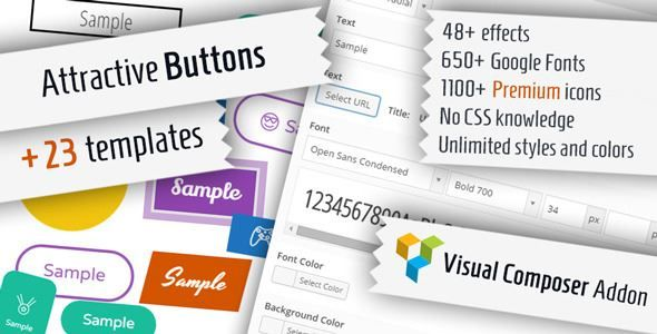 ThemeForest - Attractive Buttons for Visual Composer  Free Download