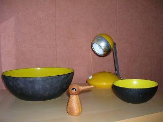 trödel & fundstücke       Krenitschalen ,  Eichhoff Lampe mit Teleskoparm . Das Vedel Vögelchen