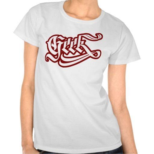 Geek Girl T-Shirt #geek #lettering #LetterHype