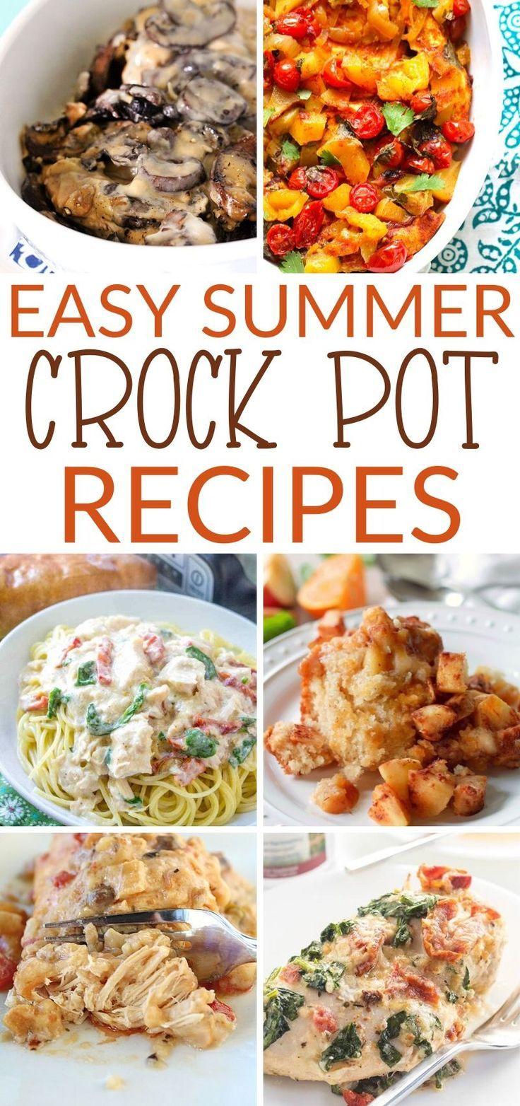 Easy Summer Crockpot Recipes Summer Crockpot Recipes Crockpot Recipes Easy Crockpot Recipes