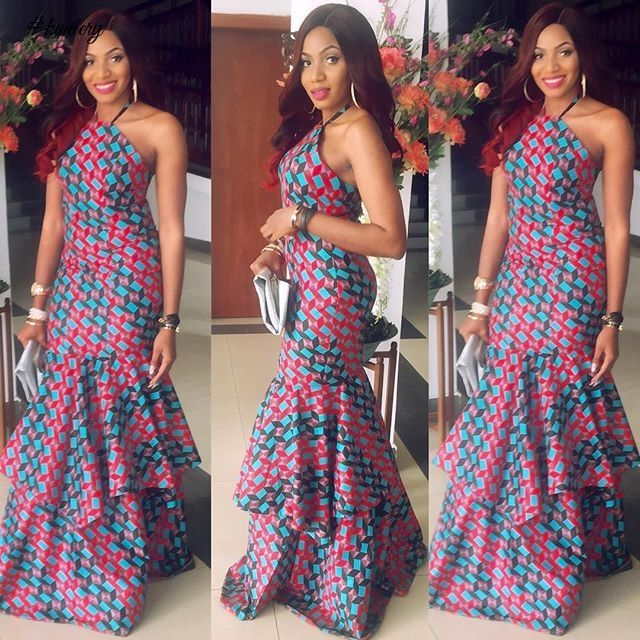 SIMPLE BUT UNIQUE WEDDING GUEST ANKARA STYLES · Ankara Gown StylesAnkara  GownsAfrican ...