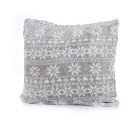 Poszewka na poduszkę szara z motywem świątecznym