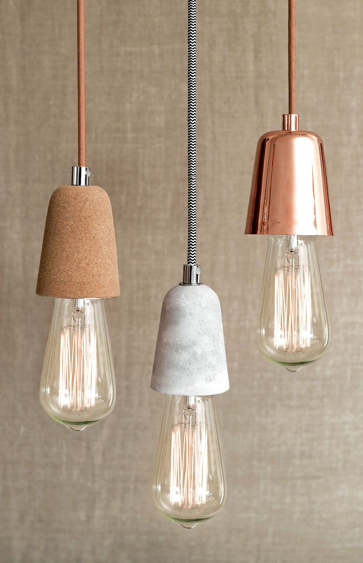 Ando 1 Light Pendant in Copper and Marble. See more inspirations at http://www.brabbu.com/en/inspiration-and-ideas/category/materials/stone #LivingRoomFurniture #ModernHomeDécor #MarbleDécorIdeas