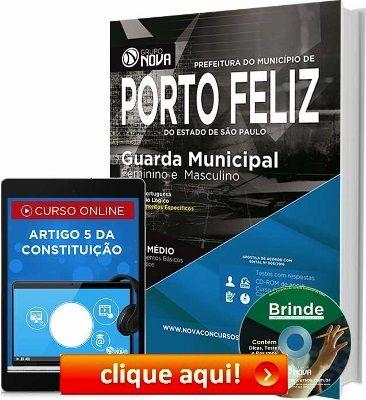 Conquiste sua Aprovação nos Concursos das Guardas Municipais de Rio Grande /RS e Porto Feliz /SP 2016, estudando com nossas Apostilas preparatórias dos Cargos.